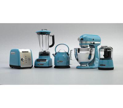Чоппер (измельчитель продуктов), 2 скорости, голубой кристалл, 5KFC3515ECL, KitchenAid, фото 3