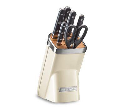 Набор ножей Professional Series, 7 предметов, кремовый, KKFMA07AC, KitchenAid, фото 1