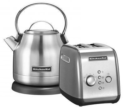 """Набор """"Завтрак 1"""" тостер 5KMT221E + чайник 5KEK1222E 1,25 л., серебряный, KitchenAid, фото 1"""