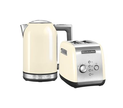 """Набор """"Завтрак"""" тостер 5KMT221E + чайник 5KEK1722 1,7 л., кремовый, KitchenAid, фото 1"""