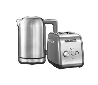 """Набор """"Завтрак"""" тостер 5KMT221E + чайник 5KEK1722 1,7 л., серебряный, KitchenAid, фото 1"""